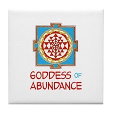 Goddess Of ABUNDANCE Tile Coaster
