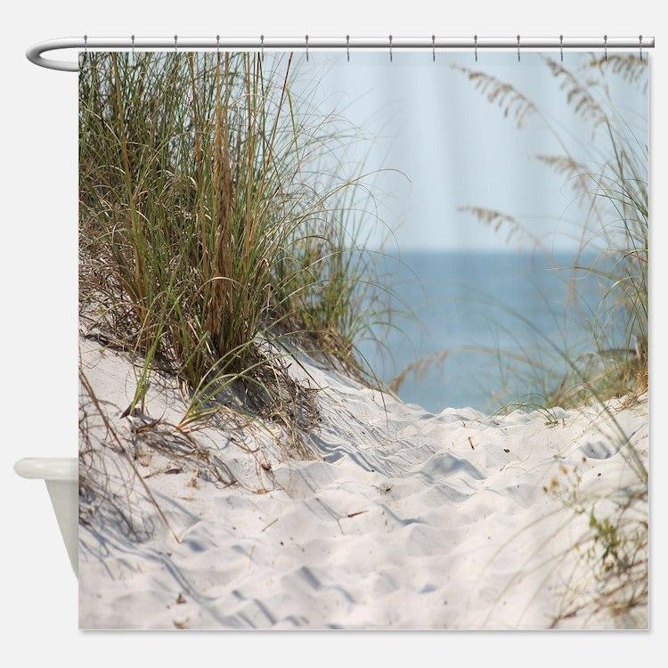 Ocean Shower Curtains  Ocean Fabric Shower Curtain Liner
