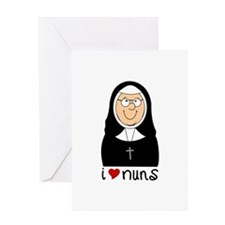I Love Nuns Greeting Cards