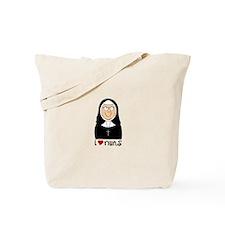 I Love Nuns Tote Bag
