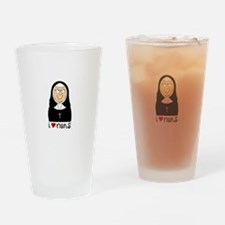 I Love Nuns Drinking Glass