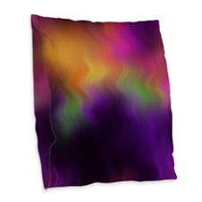 Purple Waves Burlap Throw Pillow