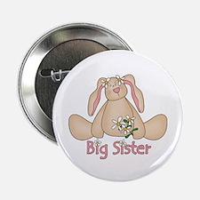 Daisy Bunny Big Sister Button