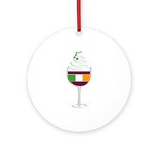Irish Wine Ornament (Round)