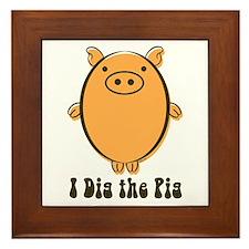 Cool Pot belly pig Framed Tile