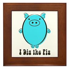 Pot belly pig Framed Tile