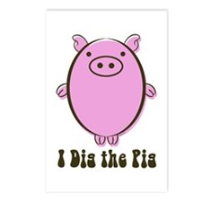 Cute I love pigs Postcards (Package of 8)
