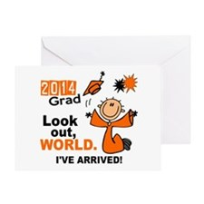 2014 Stick Grad 1.1 Orange Greeting Card
