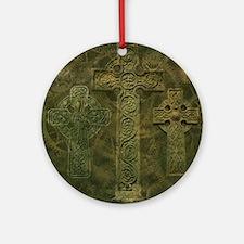 Celtic Crosses and Clockwork Ornament (Round)