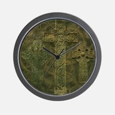 Celtic Crosses and Clockwork Wall Clock