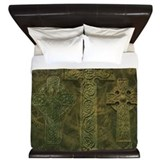 Celtic crosses and clockwork Luxe King Duvet Cover