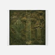Celtic Crosses and Clockwork Throw Blanket