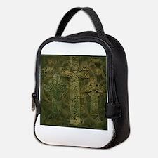 Celtic Crosses and Clockwork Neoprene Lunch Bag
