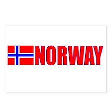 Norway Flag II Postcards (Package of 8)