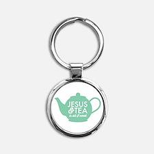 All I Need is Jesus and Tea Keychains