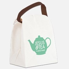 All I Need is Jesus and Tea Canvas Lunch Bag