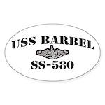 USS BARBEL Sticker (Oval)
