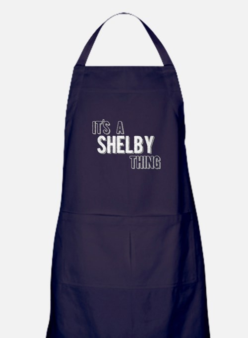 Its A Shelby Thing Apron (dark)