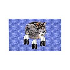T-Shirt-Eaglefeatherswolf 3'x5' Area Rug