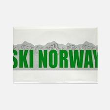 Ski Norway Rectangle Magnet