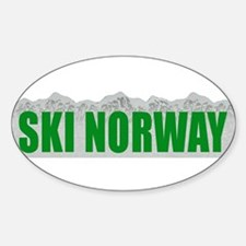 Ski Norway Oval Decal