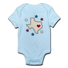 Texas Red Heart Body Suit
