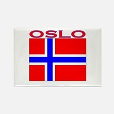 Oslo, Norway Flag Rectangle Magnet
