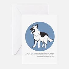German Shepherd Greeting Cards (Pk of 10)