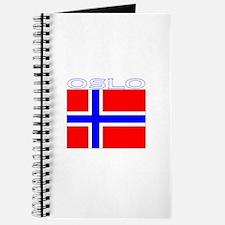 Oslo, Norway Flag (Dark) Journal