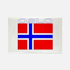 Oslo, Norway Flag (Dark) Rectangle Magnet