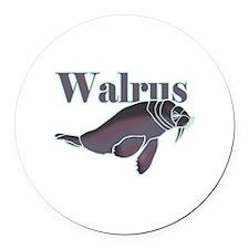 Walrus Round Car Magnet