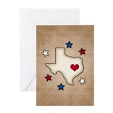 Texas Red Heart Greeting Cards