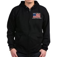 Land Of The Free Thanks To The Brave Zip Hoodie