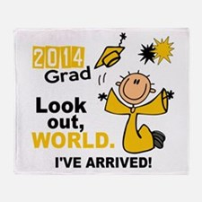 2014 Stick Grad 1.1 Gold Throw Blanket
