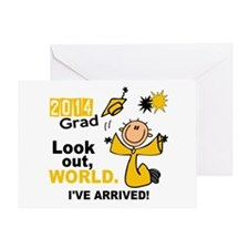 2014 Stick Grad 1.1 Gold Greeting Card