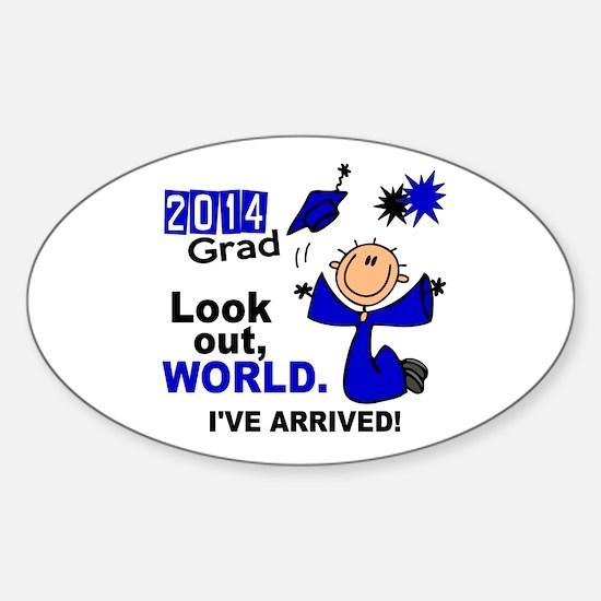 2014 Stick Grad 1.1 Blue Sticker (Oval)