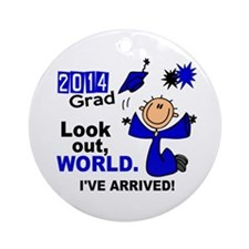 2014 Stick Grad 1.1 Blue Ornament (Round)