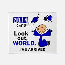 2014 Stick Grad 1.1 Blue Throw Blanket