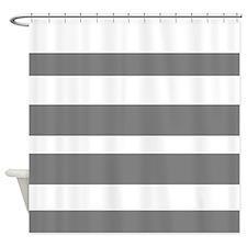 Grey white horizontal stripe shower curtains grey white horizontal