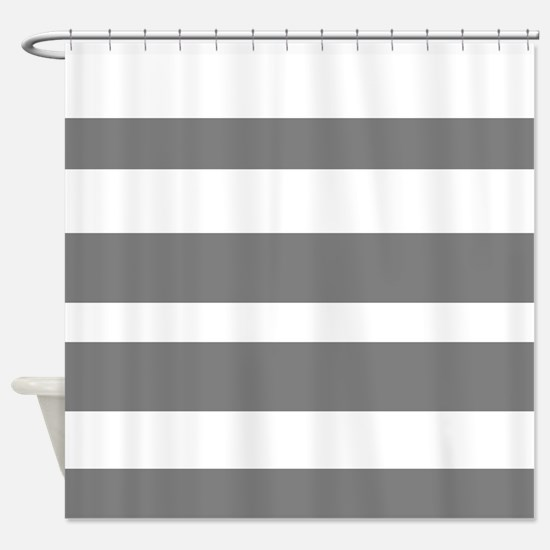 black and white striped shower curtain. White And Grey Horizontal Stripes Shower Curtain Gray Curtains  CafePress