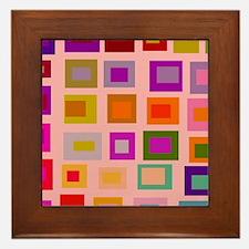 Tomorrows Light Pink Hue Framed Tile