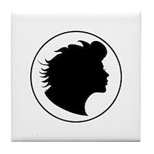 Women's Silhouette Tile Coaster