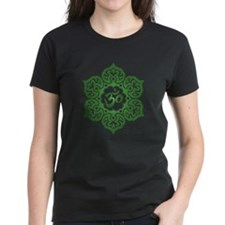 Green Lotus Flower Yoga Om T-Shirt