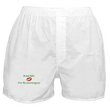 Kiss Me I'm Norweigan Boxer Shorts