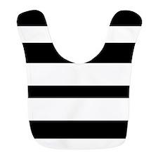 Black And White Horizontal Stripes Bib