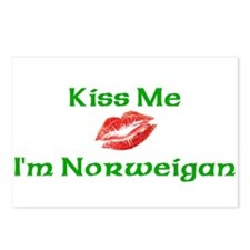 Kiss Me I'm Norweigan Postcards (Package of 8)