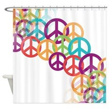 Abstract Peace Signs Shower Curtain