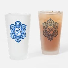 Blue Lotus Flower Yoga Om Drinking Glass