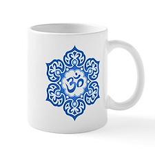 Blue Lotus Flower Yoga Om Mugs