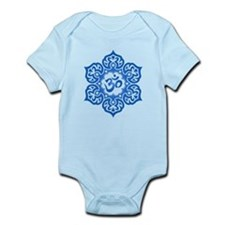 Blue Lotus Flower Yoga Om Body Suit